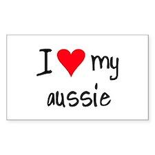 I LOVE MY Aussie Decal