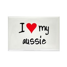 I LOVE MY Aussie Rectangle Magnet (10 pack)