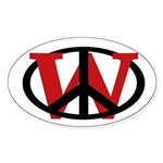 Peace Overrules W Oval Sticker