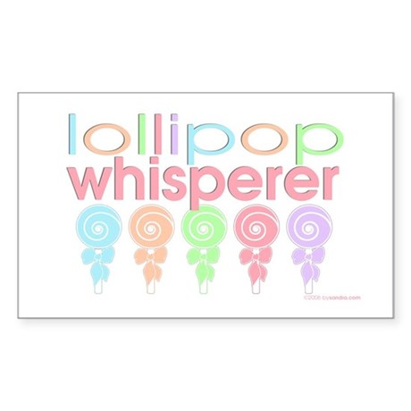 lollipop whisperer Rectangle Sticker