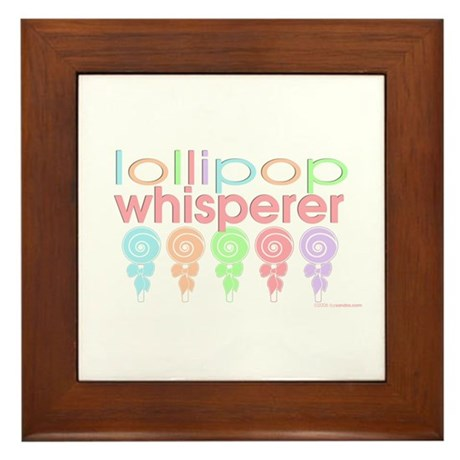 lollipop whisperer Framed Tile