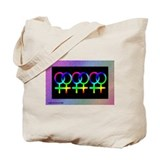Lesbians Together Tote Bag - Rainbow