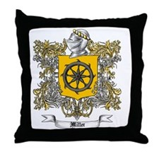 Miller Family Crest 3 Throw Pillow