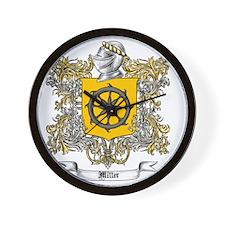 Miller Family Crest 3 Wall Clock