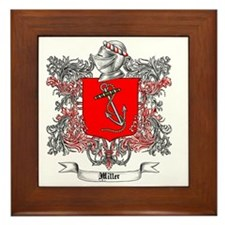 Miller Family Crest 4 Framed Tile
