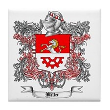 Miller Family Crest 5 Tile Coaster