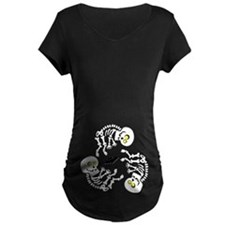 Skeleton Triplets Halloween Maternity Cute Baby Ma