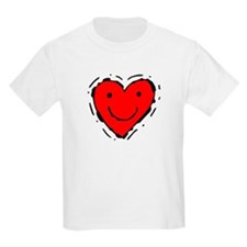Happy Face Heart Kids T-Shirt