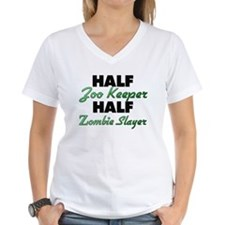 Half Zoo Keeper Half Zombie Slayer T-Shirt