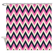 Navy Blue And Pink Shower Curtains Navy Blue And Pink Fabric Shower Curtain