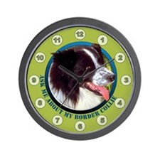 Border Collie Ask Wall Clock
