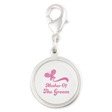 Mother of the Groom Silver Round Charm