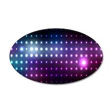 Blue/Purple Glow 35x21 Oval Wall Decal