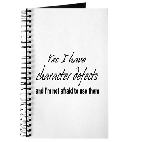 Character Defects Journal