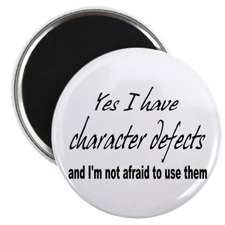 "Character Defects 2.25"" Magnet (10 pack)"