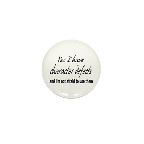 Character Defects Mini Button