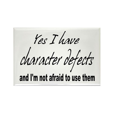 Character Defects Rectangle Magnet (100 pack)