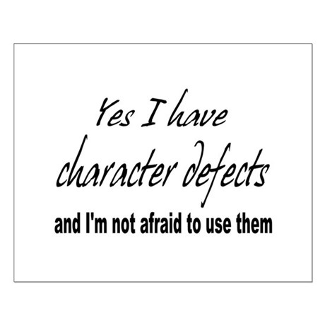 Character Defects Small Poster