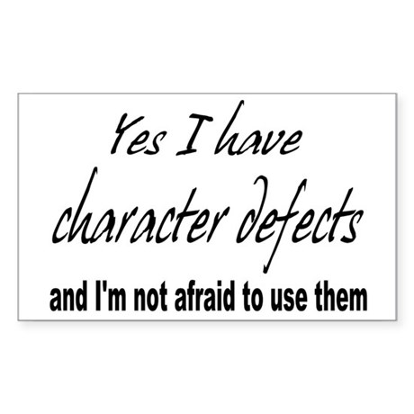 Character Defects Rectangle Sticker
