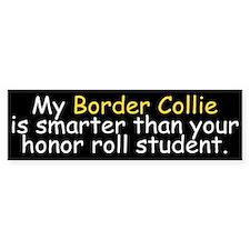Honor Roll Border Collie Bumper Bumper Sticker