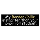 Honor Roll Border Collie Bumper Bumper Stickers
