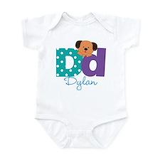 Custom Alphabet Letter D Infant Bodysuit