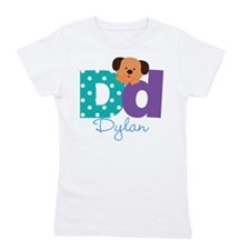 Custom Alphabet Letter D Girl's Tee