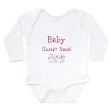 Cute Custom baby Long Sleeve Infant Bodysuit