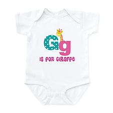 Custom Alphabet Letter G Infant Bodysuit