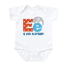 Custom Alphabet Letter E Infant Bodysuit