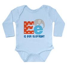Custom Alphabet Letter E Long Sleeve Infant Bodysu