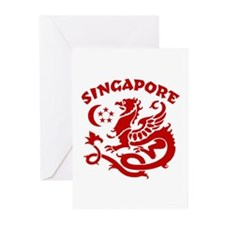 Singapore Dragon Greeting Cards (Pk of 10)
