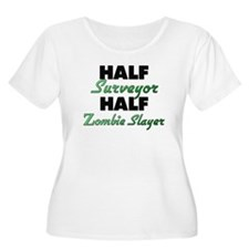 Half Surveyor Half Zombie Slayer Plus Size T-Shirt