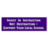 Instruction Bumper Bumper Sticker