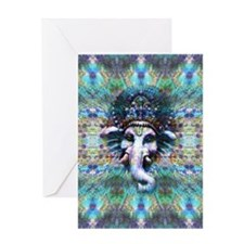 Psychedelic Ganesh Greeting Card