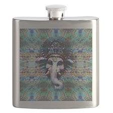 Psychedelic Ganesh Flask