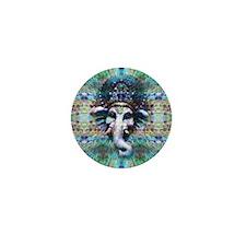 Psychedelic Ganesh Mini Button