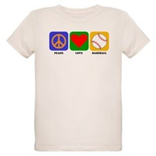 Peace Love Baseball T-Shirt
