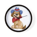 Country Dog 2 Wall Clock