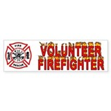 Volunteer Firefighter Bumper Car Sticker