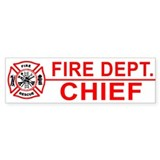 Fire Chief Bumper Car Sticker