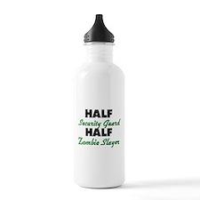 Half Security Guard Half Zombie Slayer Water Bottl