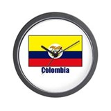 Colombia Gifts Wall Clock