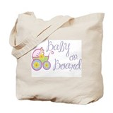 (Purple) Baby on Board Tote Bag