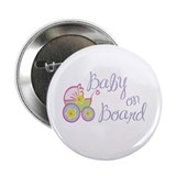 (Purple) Baby on Board Button