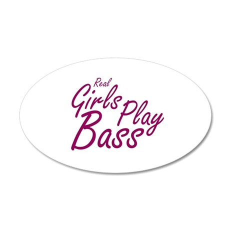 real girls play bass Wall Decal