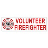 Volunteer Firefighter Bumper Bumper Stickers