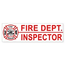 Fire Department Inspector Bumper Bumper Sticker