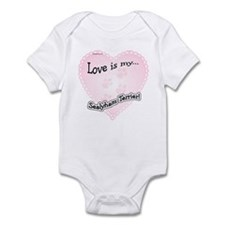 Love is my Sealyham Terrier Infant Bodysuit
