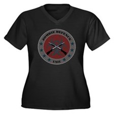 Zombie Defen Women's Plus Size Dark V-Neck T-Shirt